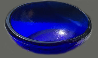 Hand Pressed Glass Bowl by Studio Inferno