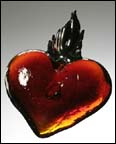 Flaming Heart in Glass by Studio Inferno