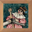 Clown Ceramic Tile by Sally Poarch