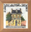 French Quarter House Ceramic Tile by Sally Poarch