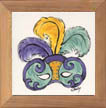 Mardi Gras Mask Ceramic Tile by Sally Poarch