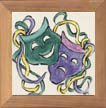 Mardi Gras Mask Tile by Sally Poarch