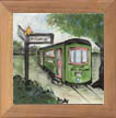Streetcar Ceramic Tile by Sally Poarch